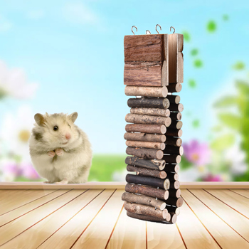 Hamster Wooden Swing Toy Flexible Toys Hamster Hanging Ladder Swing