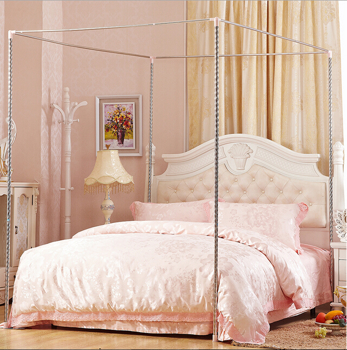 Hight QC 4 Corner Canopy & Four Corner Post Bed Canopy Mosquito Netting Or Frame/Post Single ...