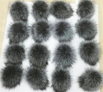 480fbddaa Details about Faux Fur Pom pom bobble with press stud Handmade Pompom for  Hat Mink Raccoon Fox