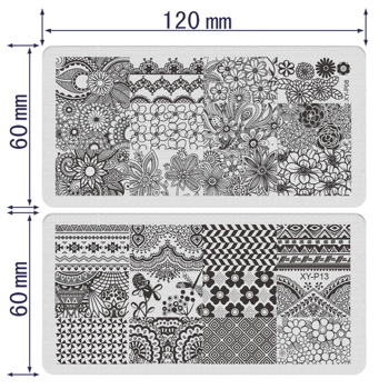 NEW 16×Manicure XY-P Nail Stamping Plate Stainless Steel Nail Art ...