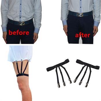 Straight I/&Y Style Military Unifrom Shirt Stay Holder Sock Garter Blet Suspender